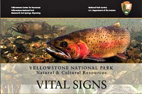 Cover from the 2013 Vital Signs Report with underwater image of cutthroat trout.