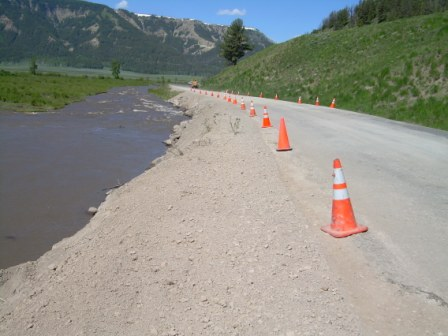 Lamar Valley Road Washout