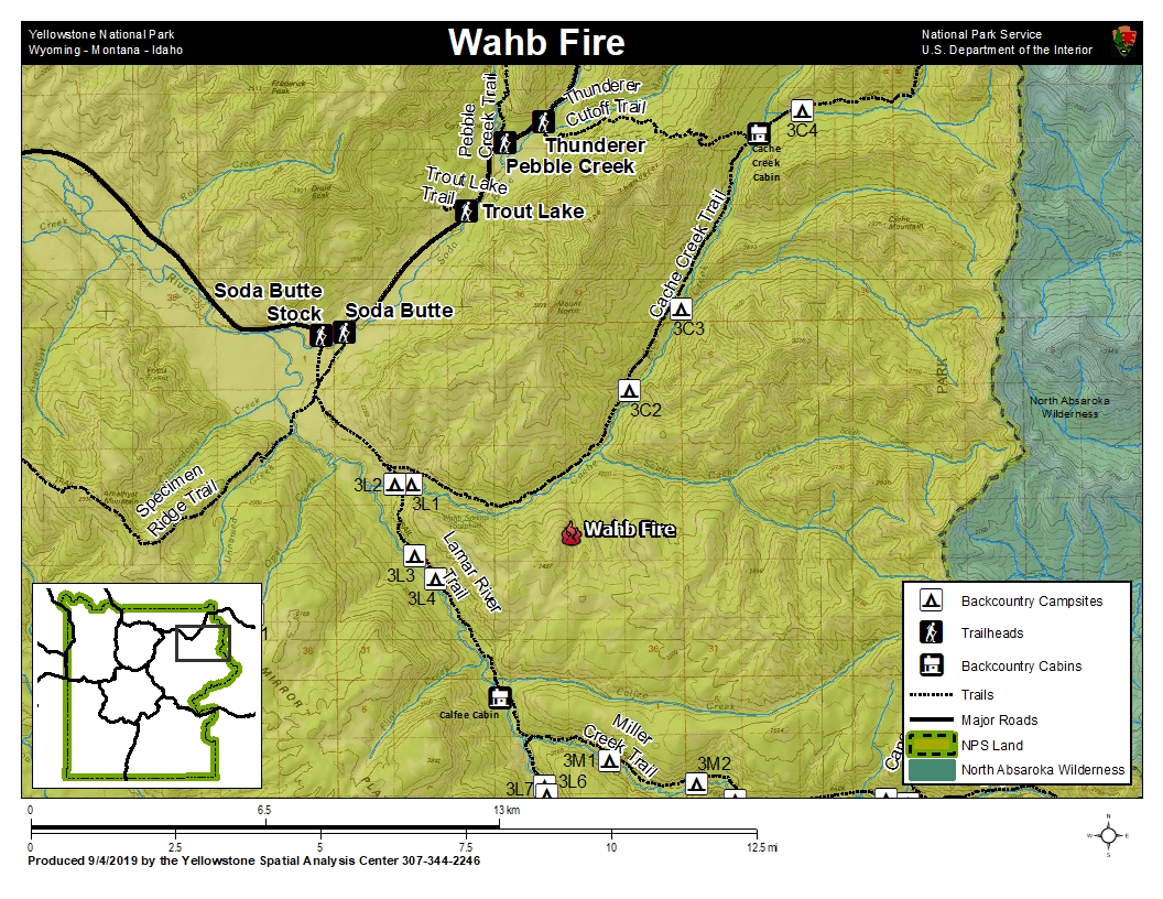 Map of the Wahb Fire