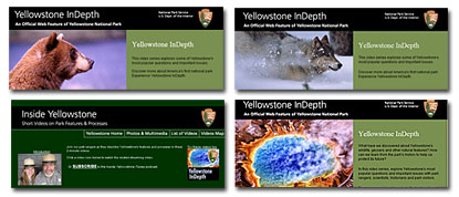 A collage of Yellowstone's multimedia offerings.