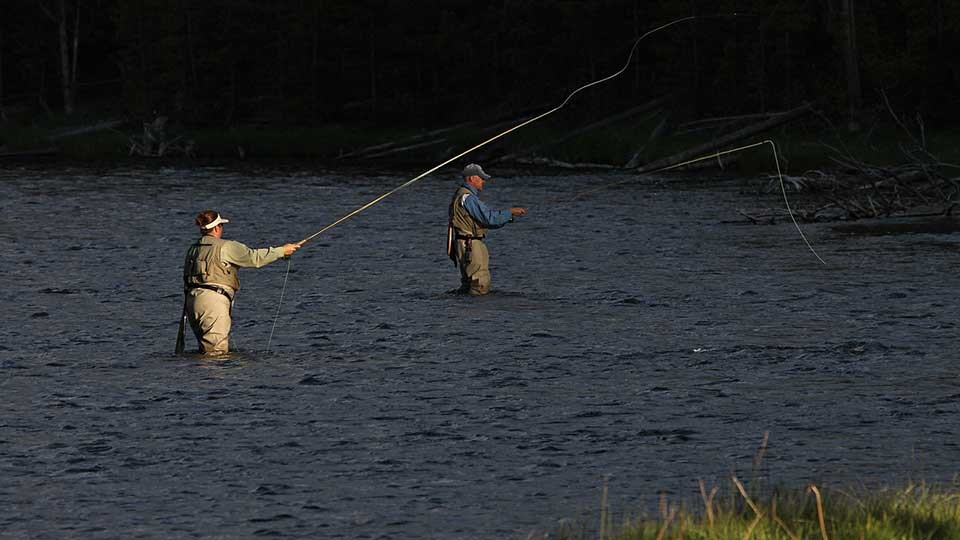 Fishing on the Firehole River