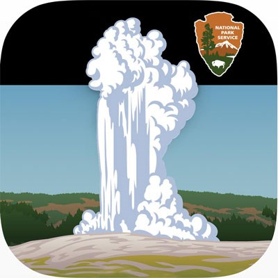Icon for the Geyser app, which depicts Old Faithful Geyser erupting