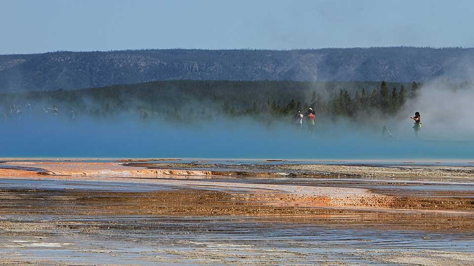 Grand Prismatic Hot Springs