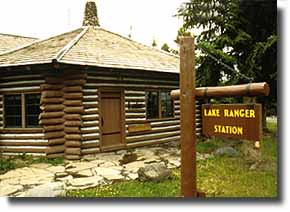 Exterior photo of the Lake Ranger Station