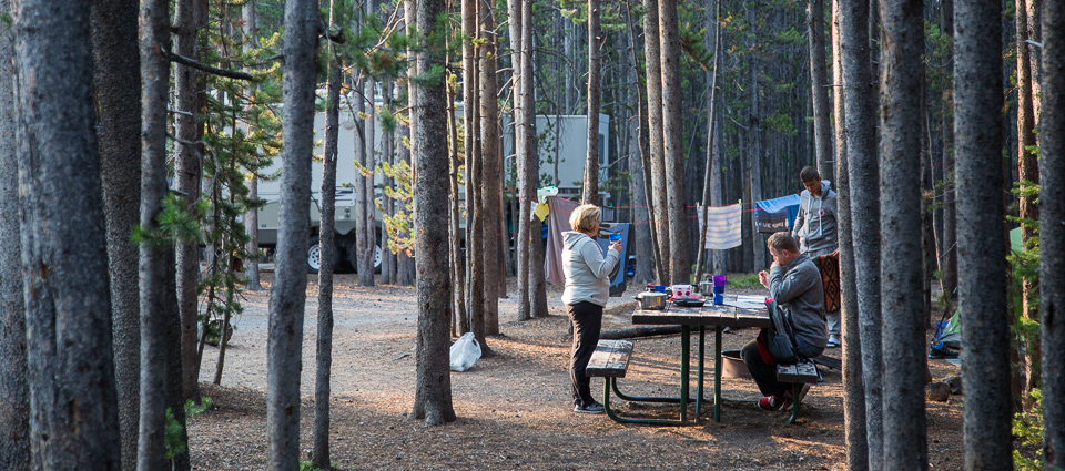 Canyon Campground Yellowstone National Park U S