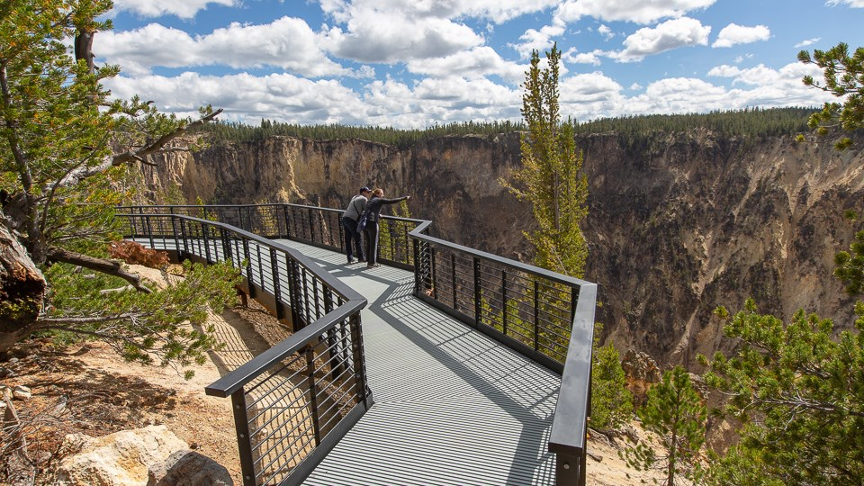 Accessible viewing platform at Inspiration Point