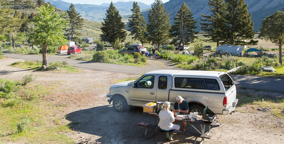 Mammoth Hot Springs Campground Yellowstone National Park