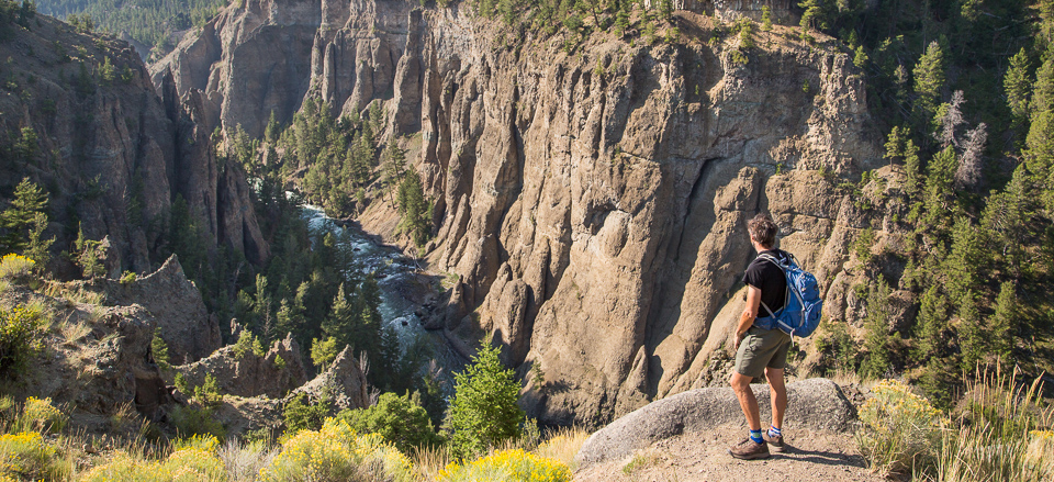 Gazing into the narrows of the Yellowstone River