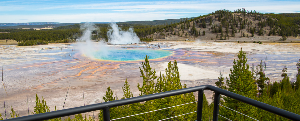 View of Grand Prismatic Spring from the new overlook