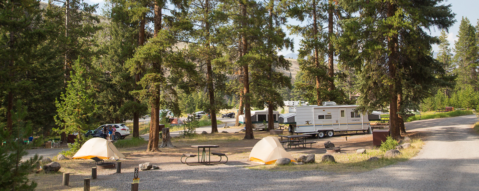 Tower Fall Campground Yellowstone National Park U S