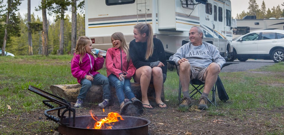 Family Camping in Norris Campground