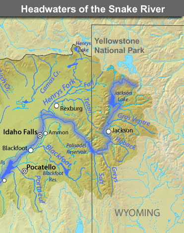 Snake River Yellowstone National Park US National Park Service - Yellowstone map us