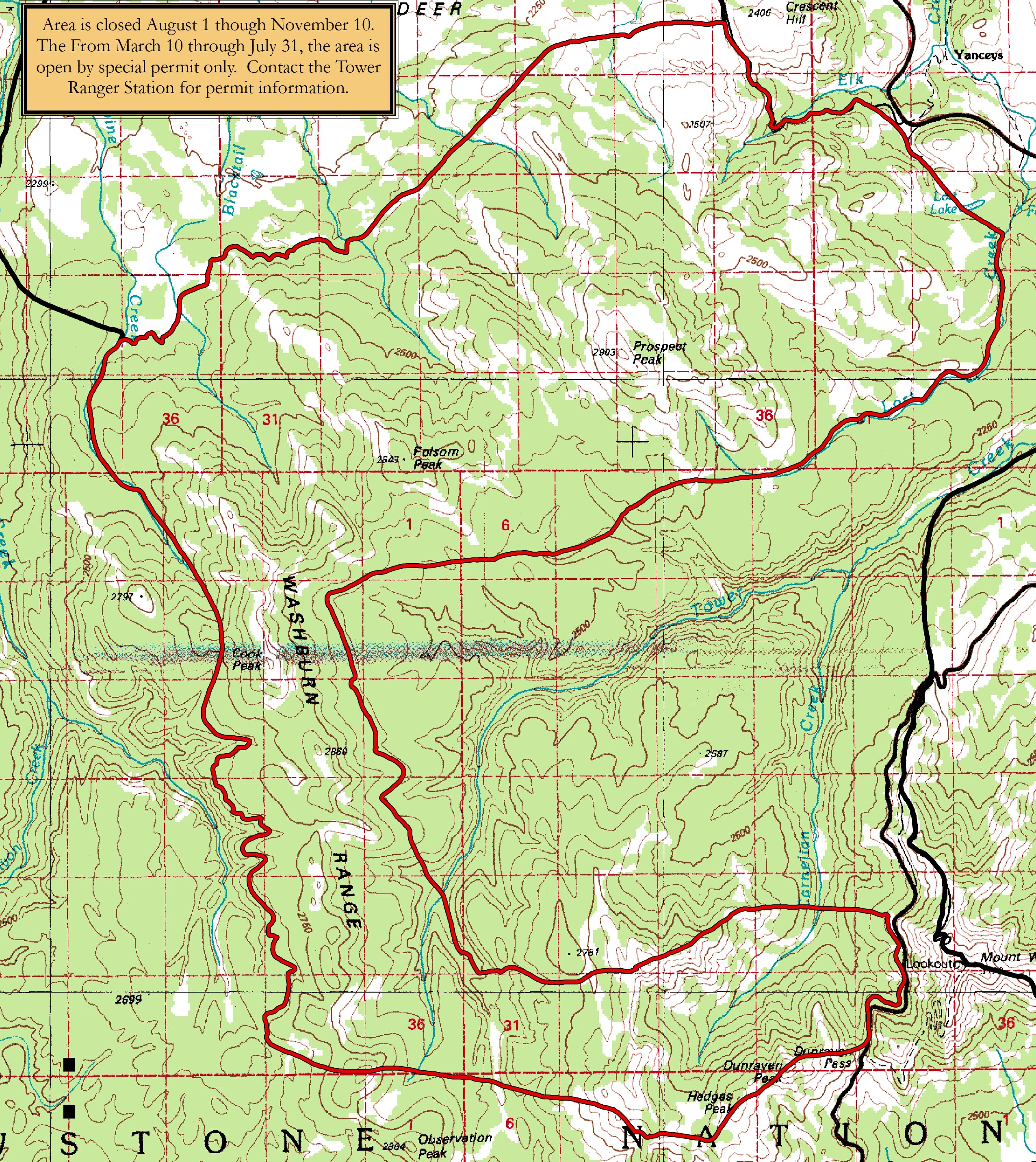 Bear Management Areas - Yellowstone National Park (U S