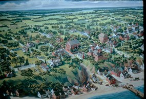 Painting of Colonial Yorktown
