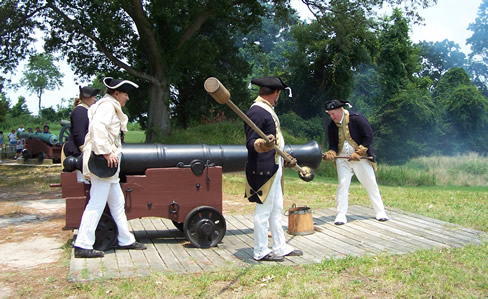 Lamb's Artillery Cannon Firing Demonstration