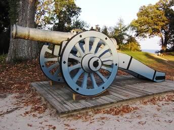 Revolutionary War Artillery - Yorktown Battlefield Part of Colonial