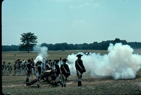 Cannon firing during the 200th Anniversary