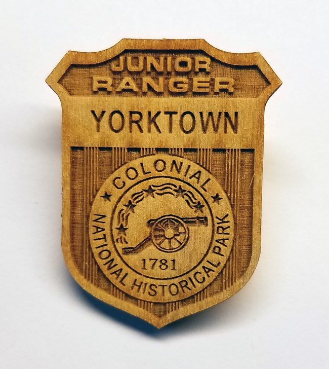 junior ranger badge wood