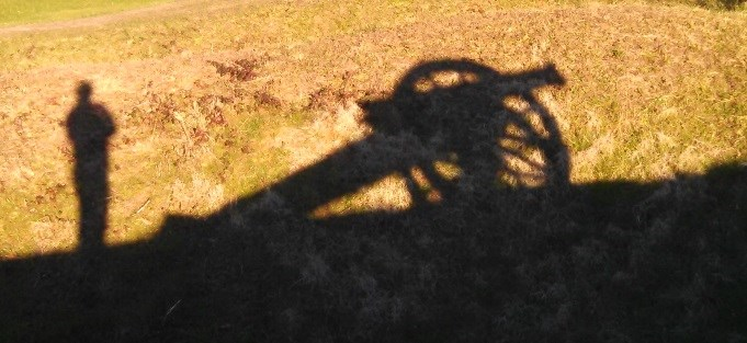 Cannon Shadow on Earthwork