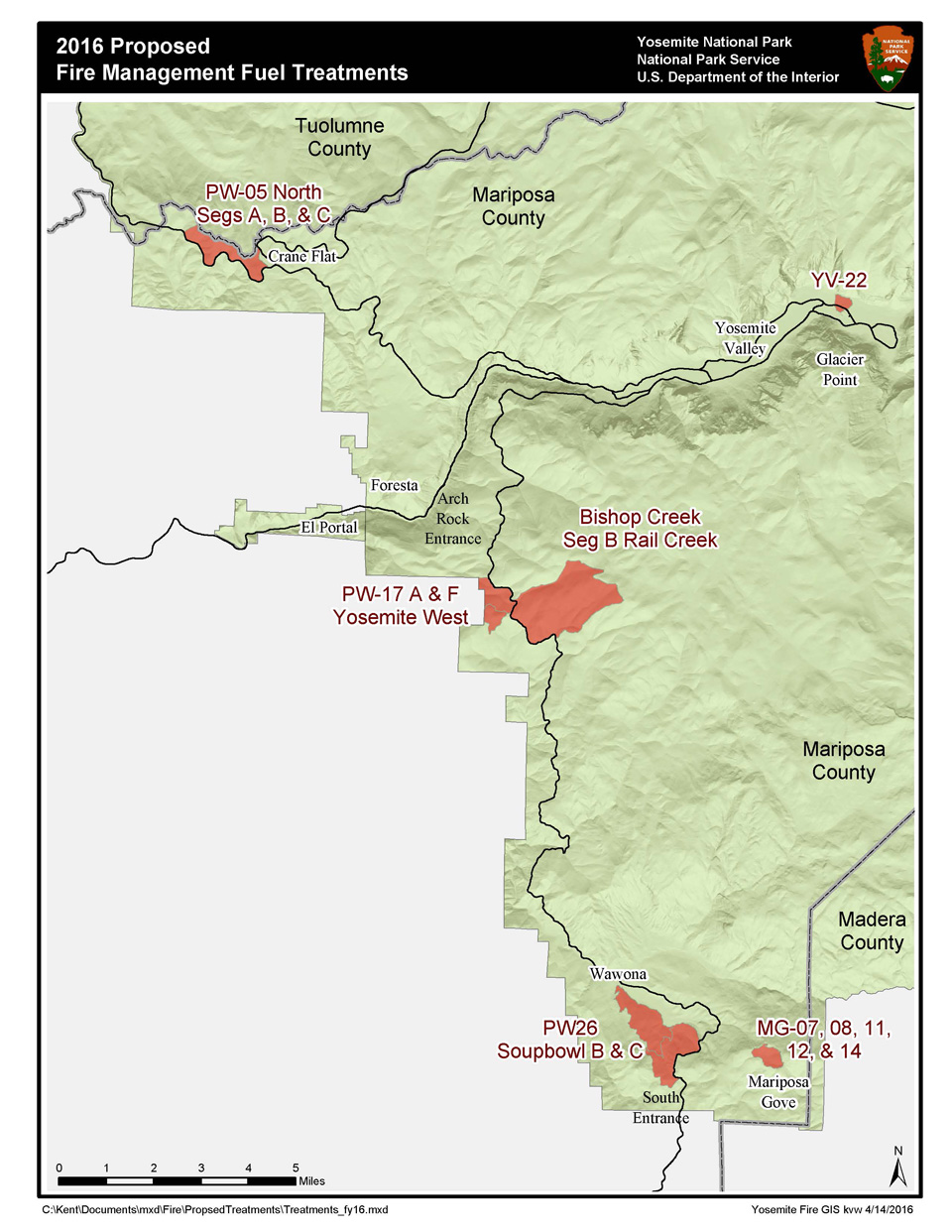 2016 proposed fire and fuels treatment map