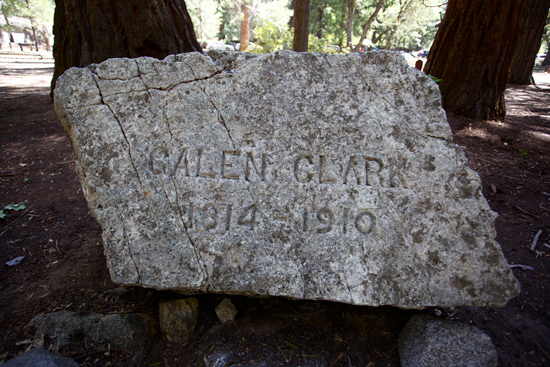 Galen Clark selected his own headstone and had his name carved into it before he died.