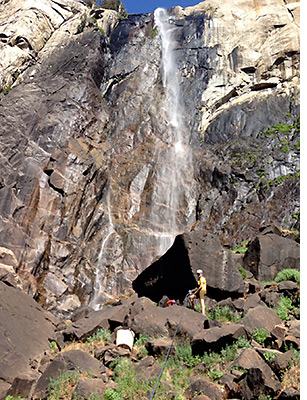 Incident location in boulder field below Bridalveil Fall