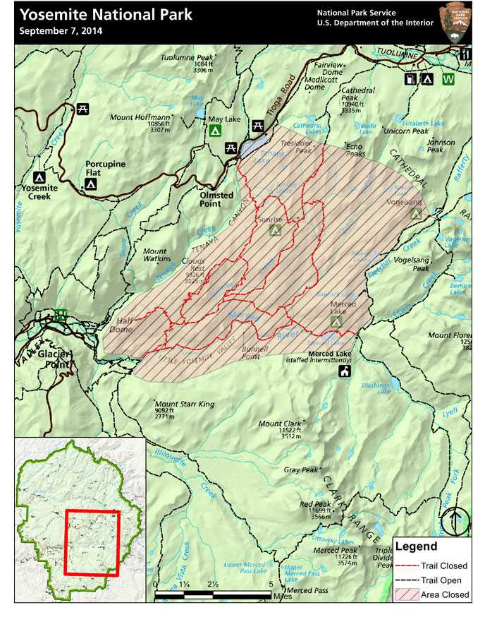 Fire Map Yosemite.Yosemite Fires Update 19 Yosemite National Park U S National