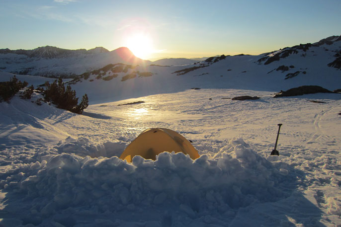 Sunrise over Donohue Pass, March 18,2013
