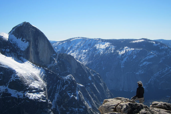 View of Half Dome from Mount Watkins