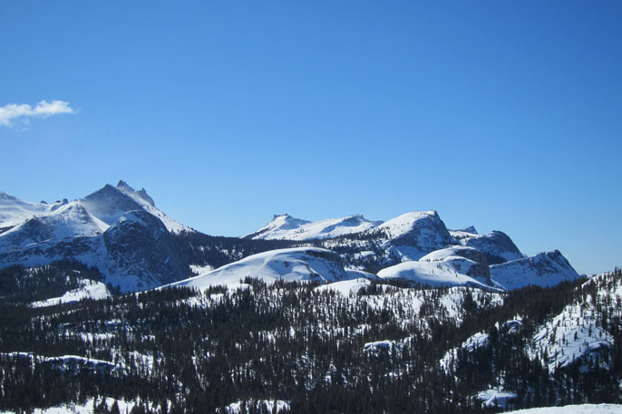 Tuolumne Peaks and Domes, February 21, 2013