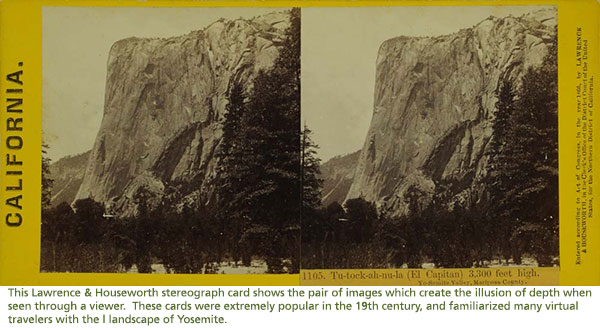 Stereo card of El Capitan