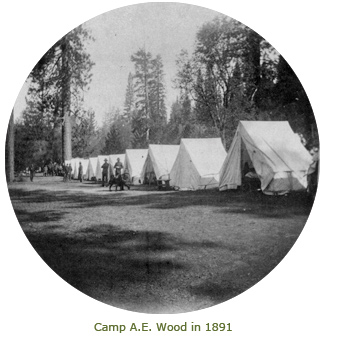 Camp A.E. Wood tents in 1891