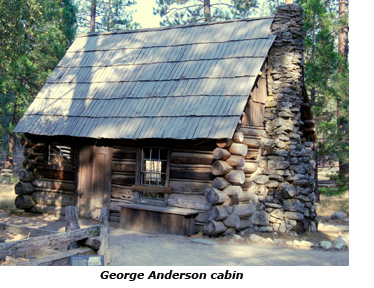 George Anderson cabin located in Pioneer Yosemite History Center in Wawona