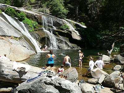Cooling off during the heat of summer (at Carlon Falls)
