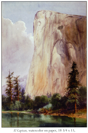 Painting of El Capitan - watercolor on paper