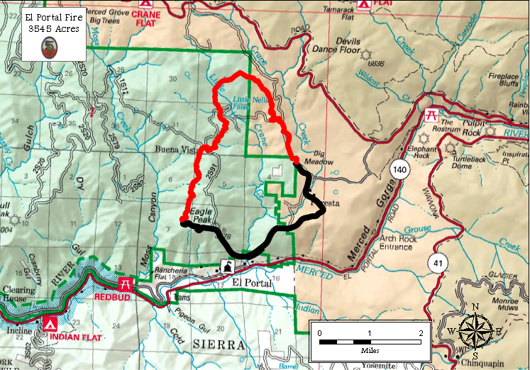 Map of fire perimeter as of July 30, 2014