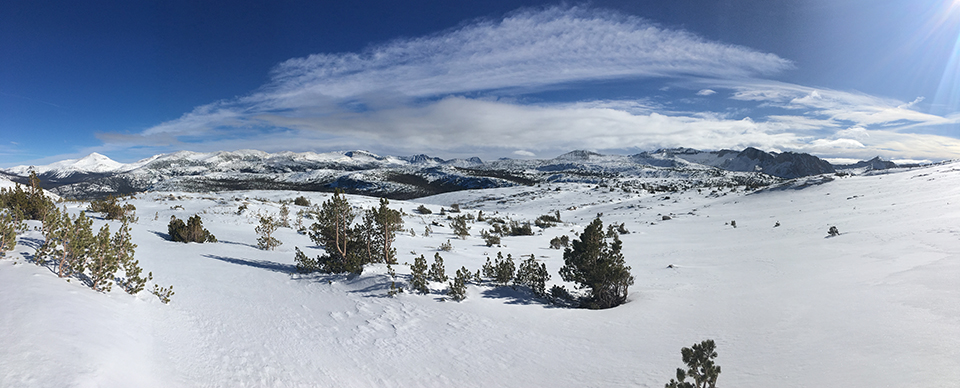 Kuna Crest with blue skies and snow on December 30, 2020