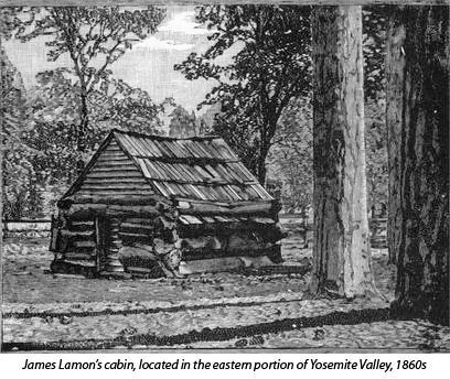 Lamon's cabin in Yosemite Valley