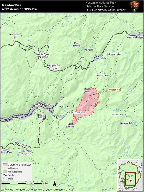 Map of Meadow Fire from 9.10.14