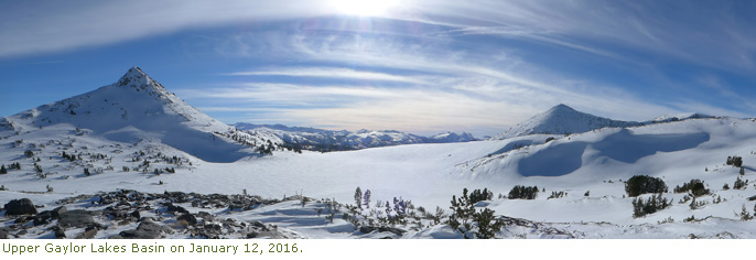 Upper Gaylor Lakes Basin on January 12, 2016