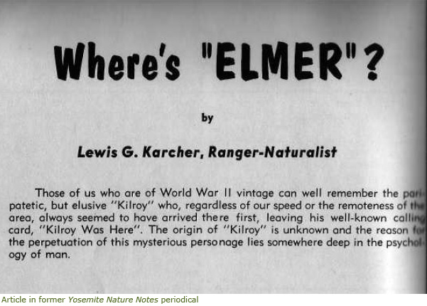 Image of Elmer article from former Yosemite Nature Notes periodical