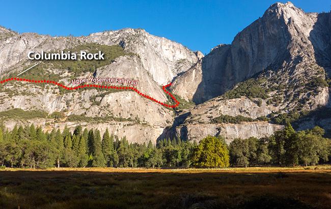 , located along the Upper Yosemite Fall trail