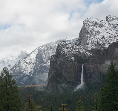 Bridalveil Fall as seen from Tunnel View