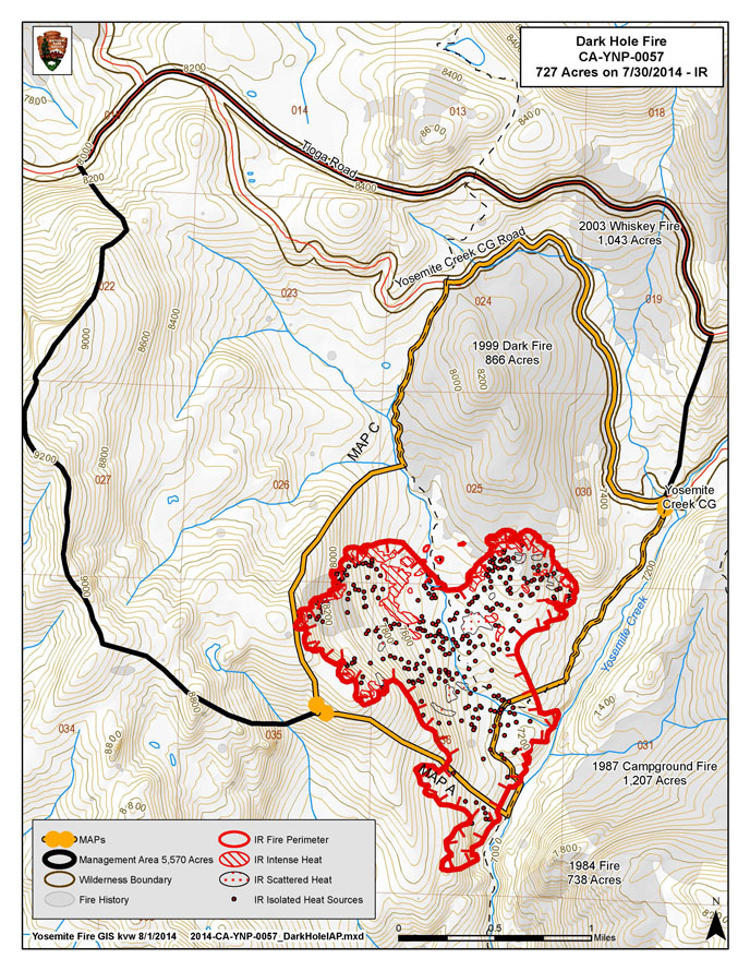 Dark Hole fire conditions map