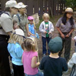 Ranger teaching students