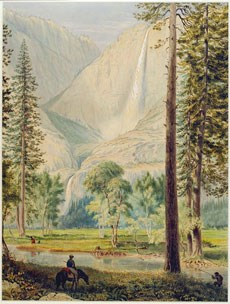 Watercolor of Yosemite Falls