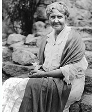 B&W photo of sitting woman Jennie Curry