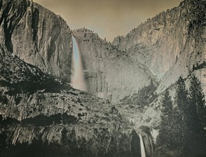 Deguerreotype created by Binh Danh of Yosemite Falls