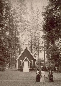 Historic image of chapel exterior