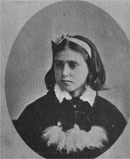 Portrait of young Flo Hutchings